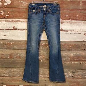 True Religion Wide leg jeans! Size 26!